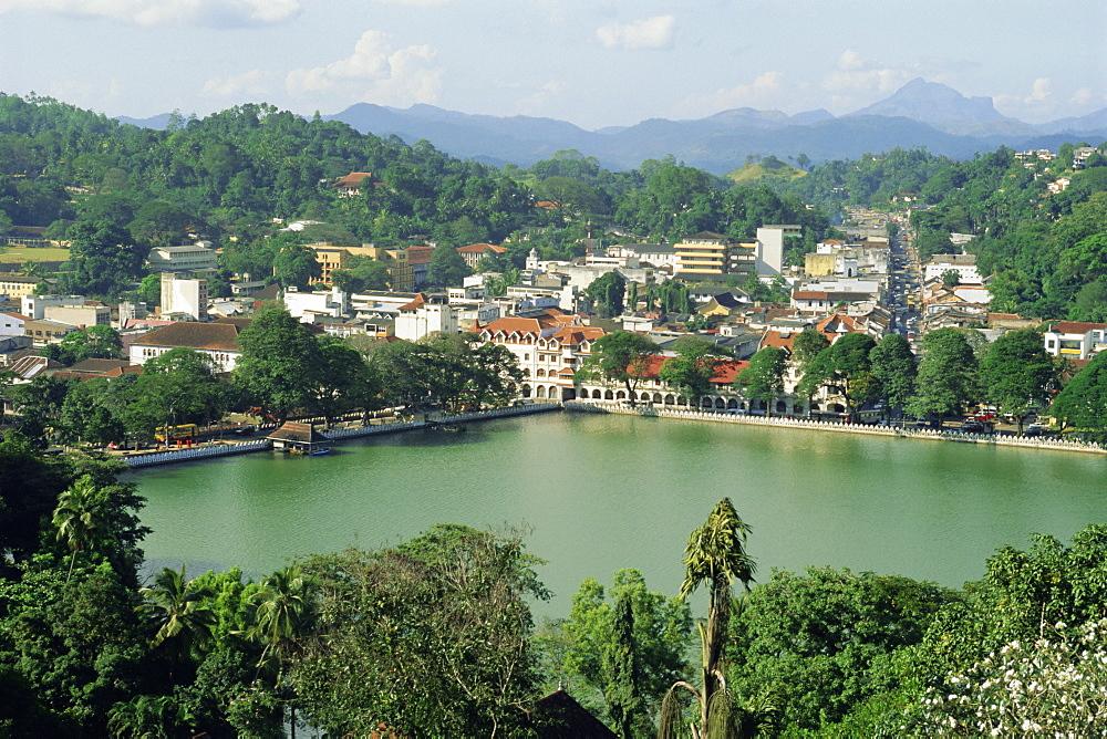 The town of Kandy, Sri Lanka, Asia