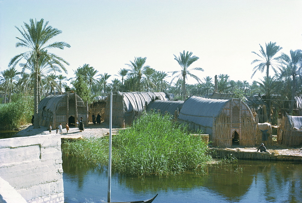 Village of the Marsh Arabs, taken in the 1970s, Iraq, Middle East