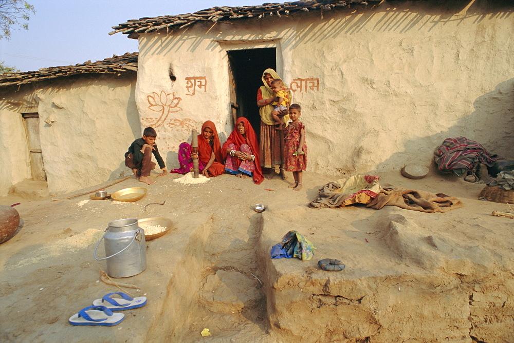 Village life, Deogarh, Rajasthan, India
