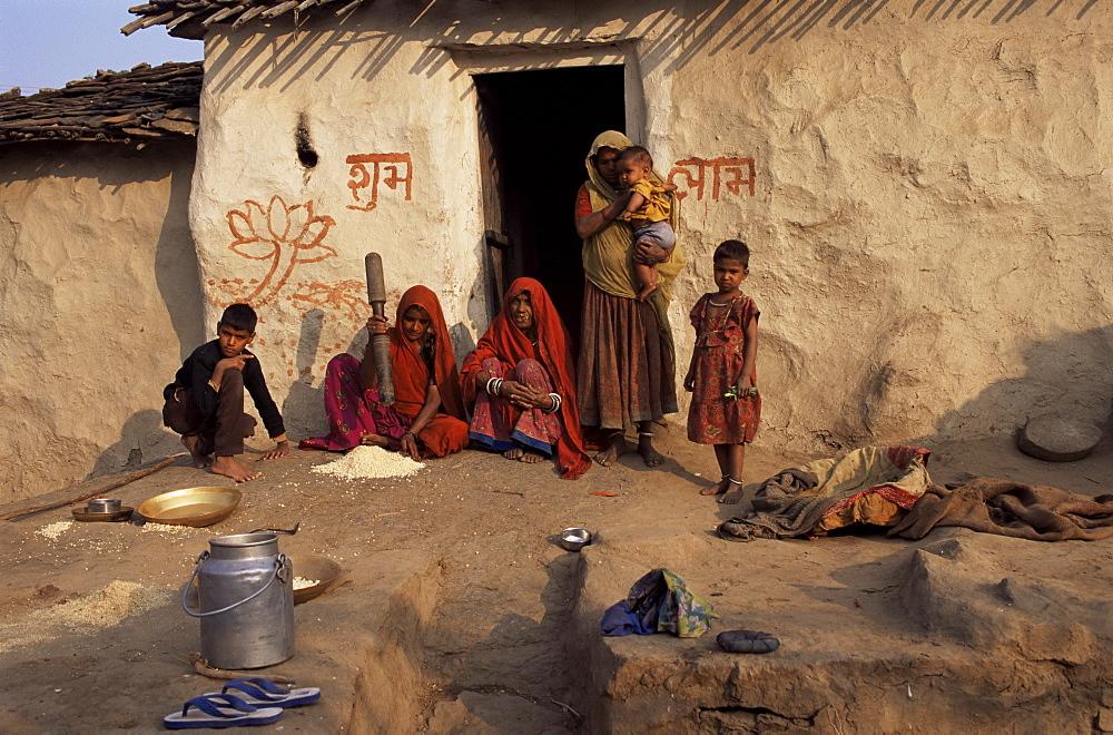 Village life, near Deogarh, Rajasthan state, India, Asia