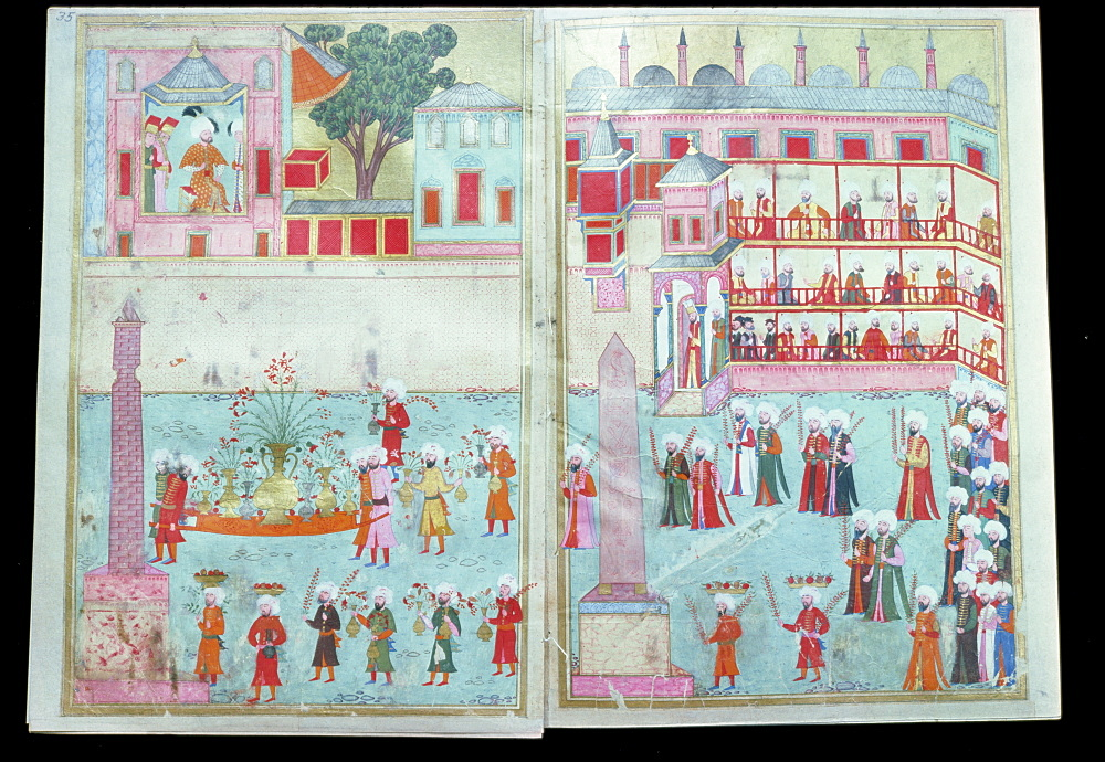 Book of the procession in honour of circumcision of Prince Mehmed, Topkapi Palace Library, Istanbul, Turkey, Europe