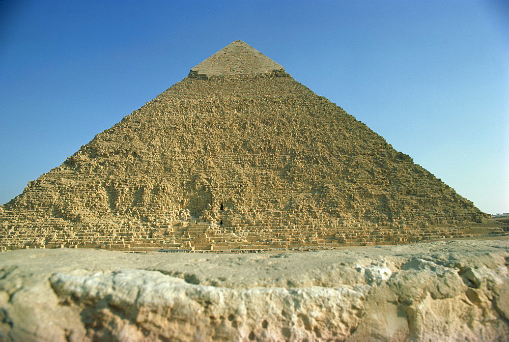 Chephren pyramid, Giza, UNESCO World Heritage Site, near Cairo, Egypt, North Africa, Africa - 1-8669