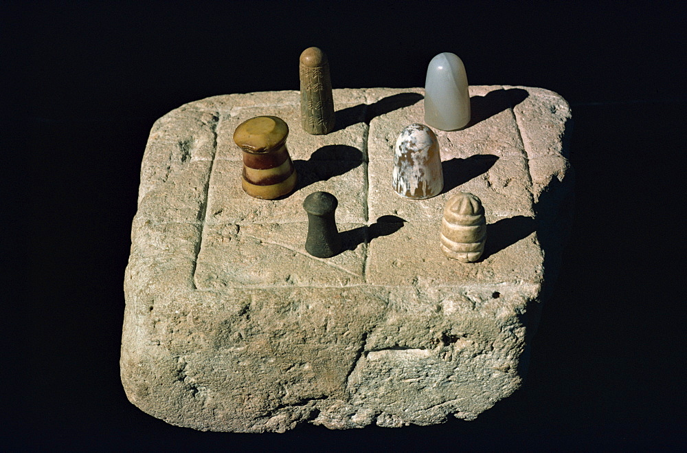 Chess board from Mohenjodaro, Karachi Museum, Pakistan, Asia