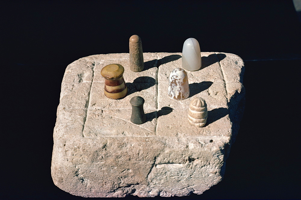 The chess board from the Indus civilisation at Mohenjodaro, in the Karachi Museum, Pakistan, Asia
