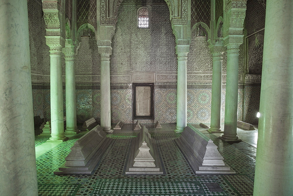 The Saadian Tombs, Marrakech, Morocco, North Africa, Africa