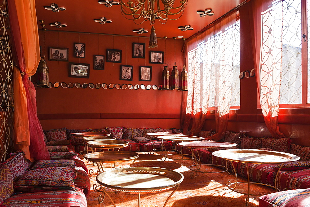 The Berber Room in Cafe Arab in the northern part of the Medina, Marrakesh, Morocco, North Africa, Africa