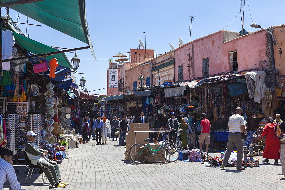 Entrance to the souks, Marrakech, Morocco, North Africa, Africa