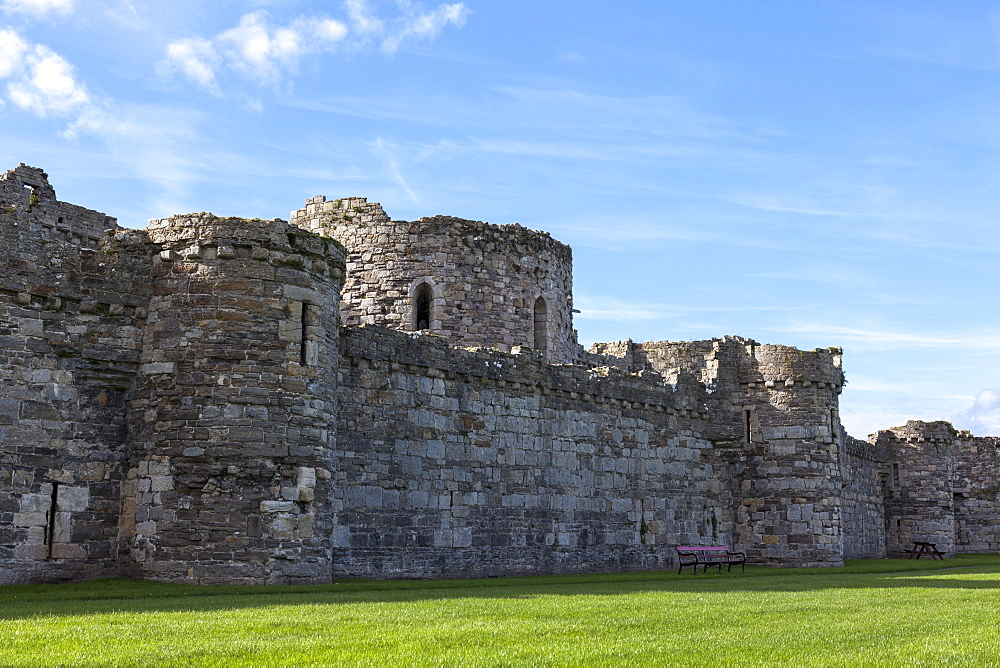 Beaumaris Castle, UNESCO World Heritage Site, Anglesey, Wales, United Kingdom, Europe
