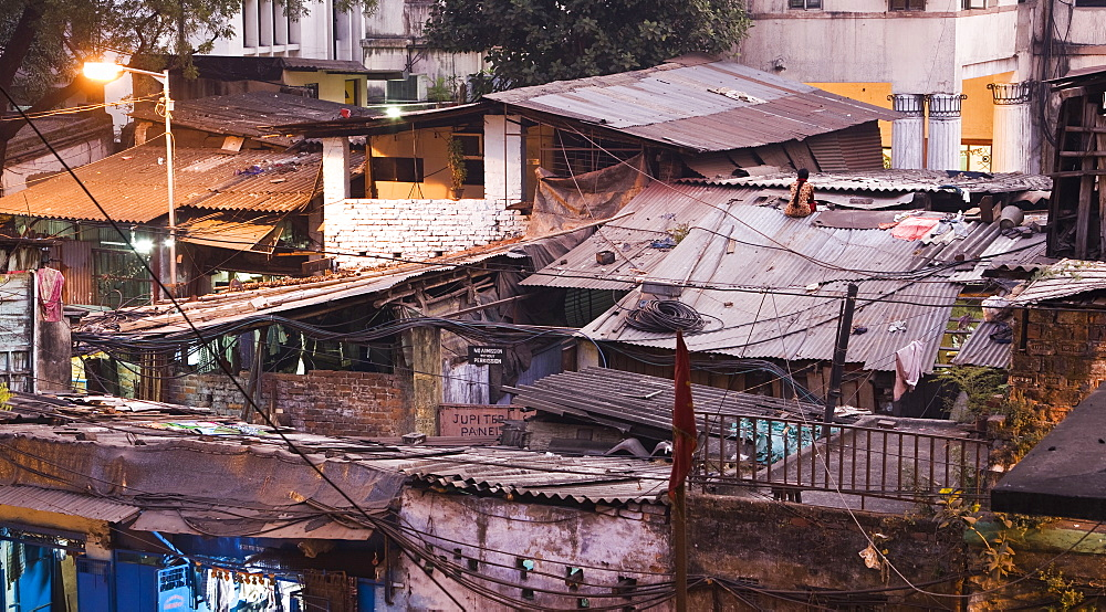 Slum rooftops, Calcutta, India - 1005-128