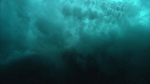 Waves underwater, breaks and surge, Mexico