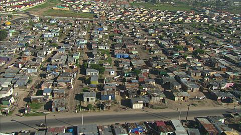 Aerial, Cape Town, Shanty town two. South Africa