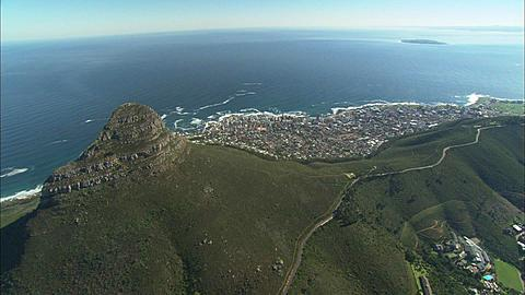 Aerial, Cape Town, Twelve Apostles, Table Mountain and Devil's Peak. South Africa