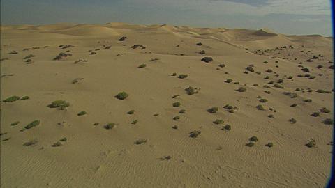 Aerial view Ahbu Dabi, sand dunes, Abu Dhabi, United Arab Emirates