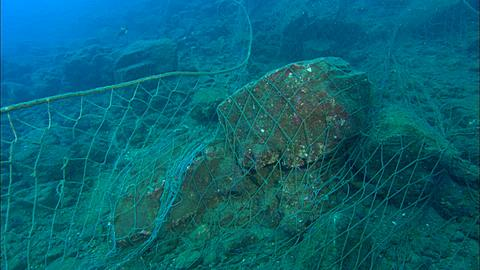 Drift net, across reef to bottom Mexico