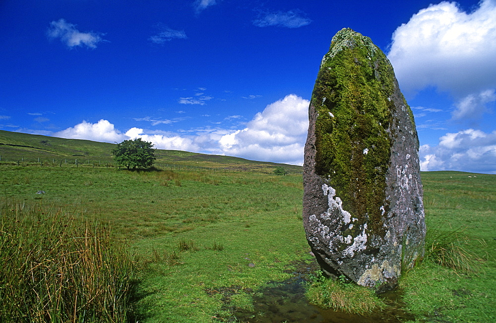 Standing Stone, Brecon Beacons National Park, Wales, UK - 1024-155
