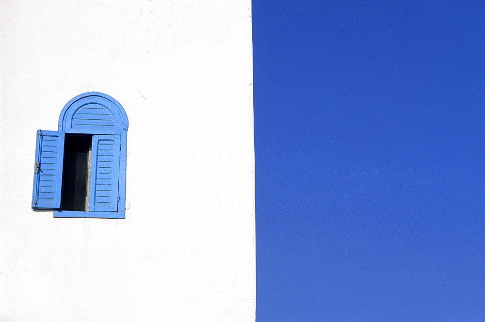 Blue window and shutter, Essaouira, Morocco - 1024-238