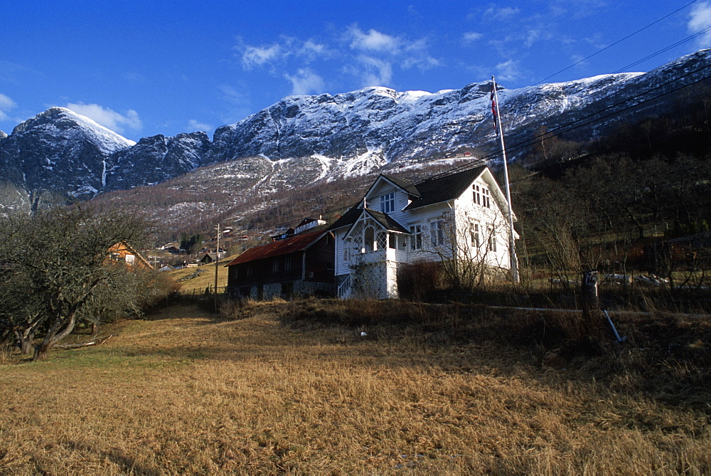 Rural farmhouse, Aurlandsfjord, Norway. - 1024-257