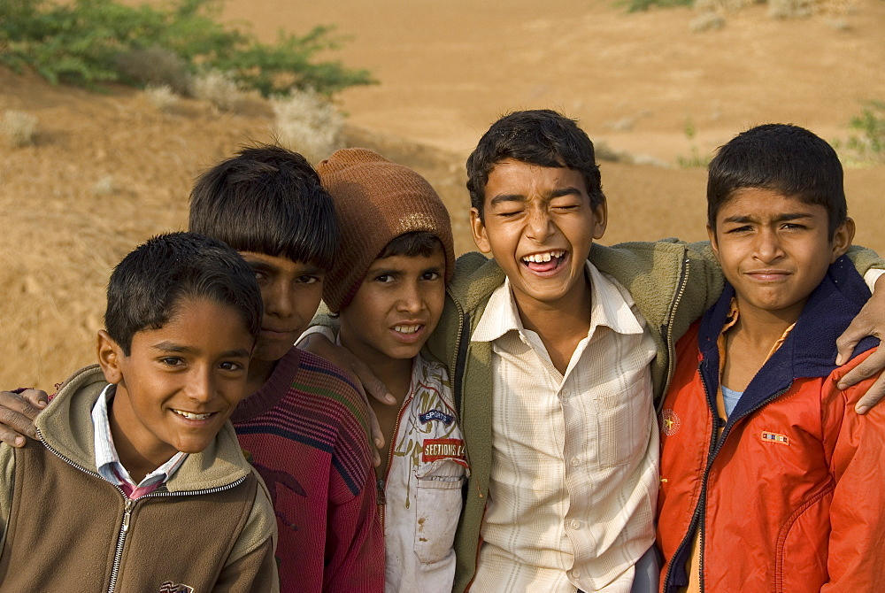 Local boys from the rural village of Keechen, Rajasthan, India - 1024-324