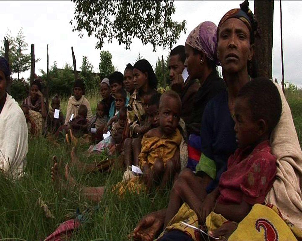 Famine Ethiopia. Hungry people.  Rural community. Ethiopia