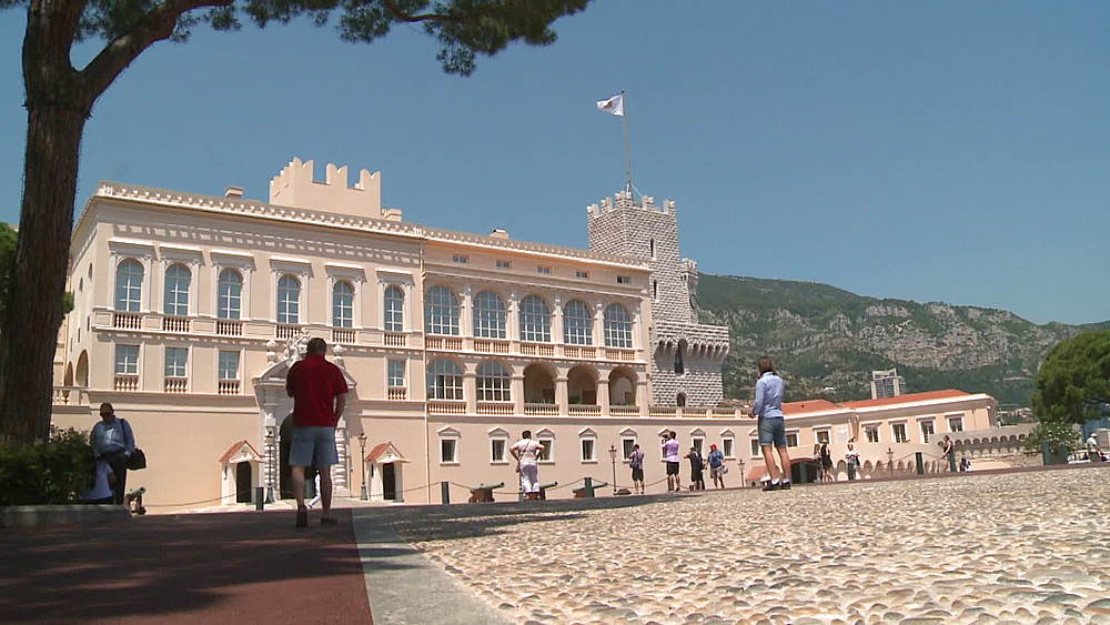 wide shot castle Monte Carlo