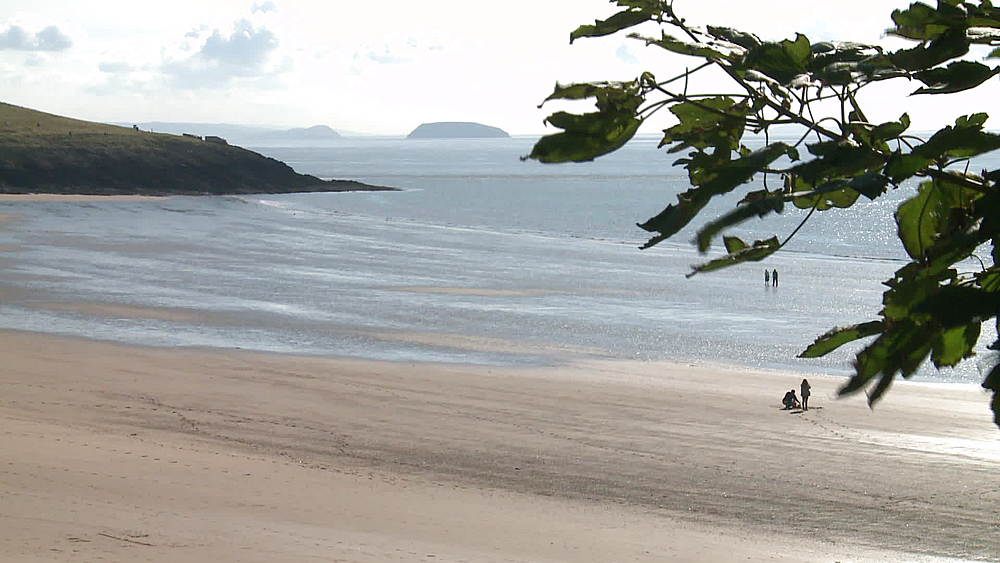 ws beach headland island Steepholm & figures - 1031-2222