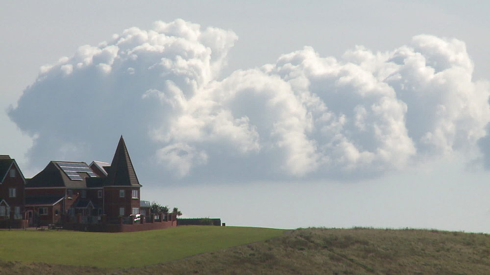 headland house with clouds - 1031-2232