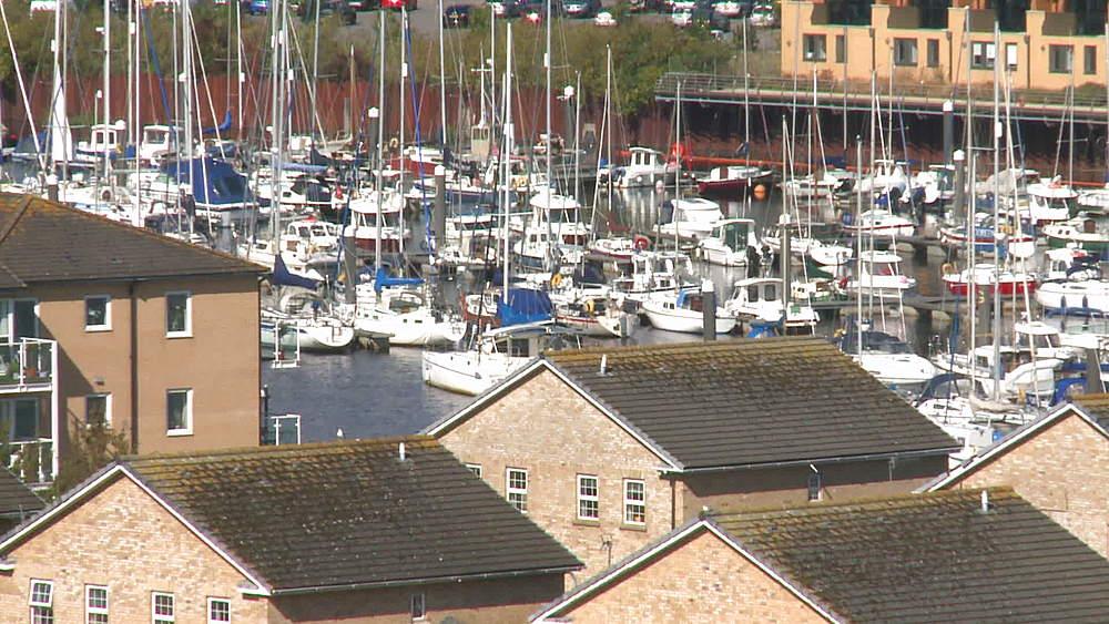 ms  moored yachts marina & houses - 1031-2246