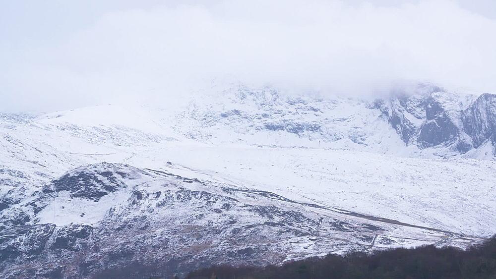 cloud covered snowy peaks - 1031-2333