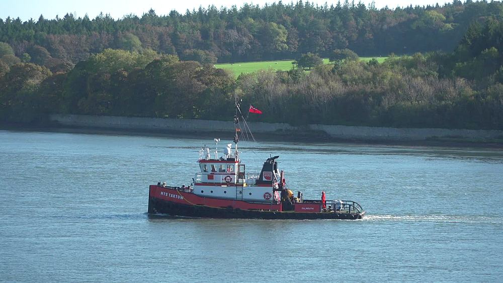 tug boat  goes through shot - 1031-2378