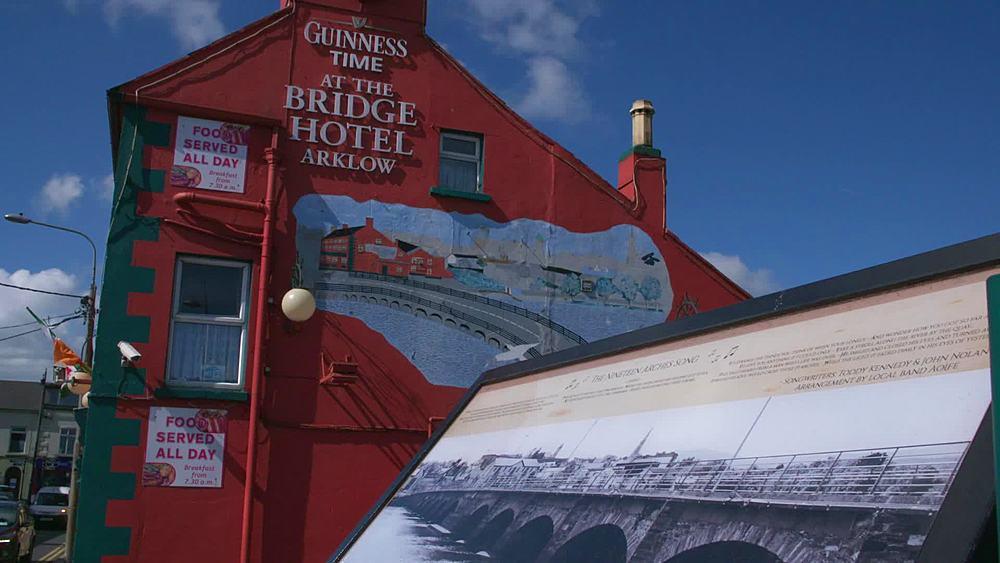 general shots town bridge and pub