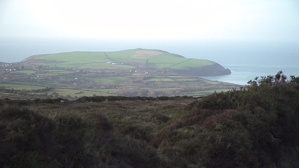 Wide shots Dinas Head from Preeli mountains