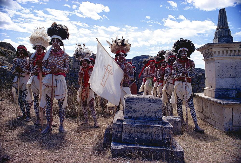 Spotted Tarahumara dancers, Mexico, North America - 105-1145