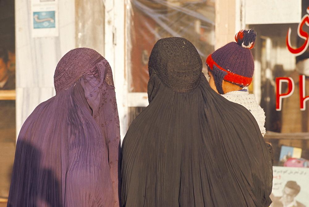 Women wearing burkas, Afghanistan, Asia - 105-592