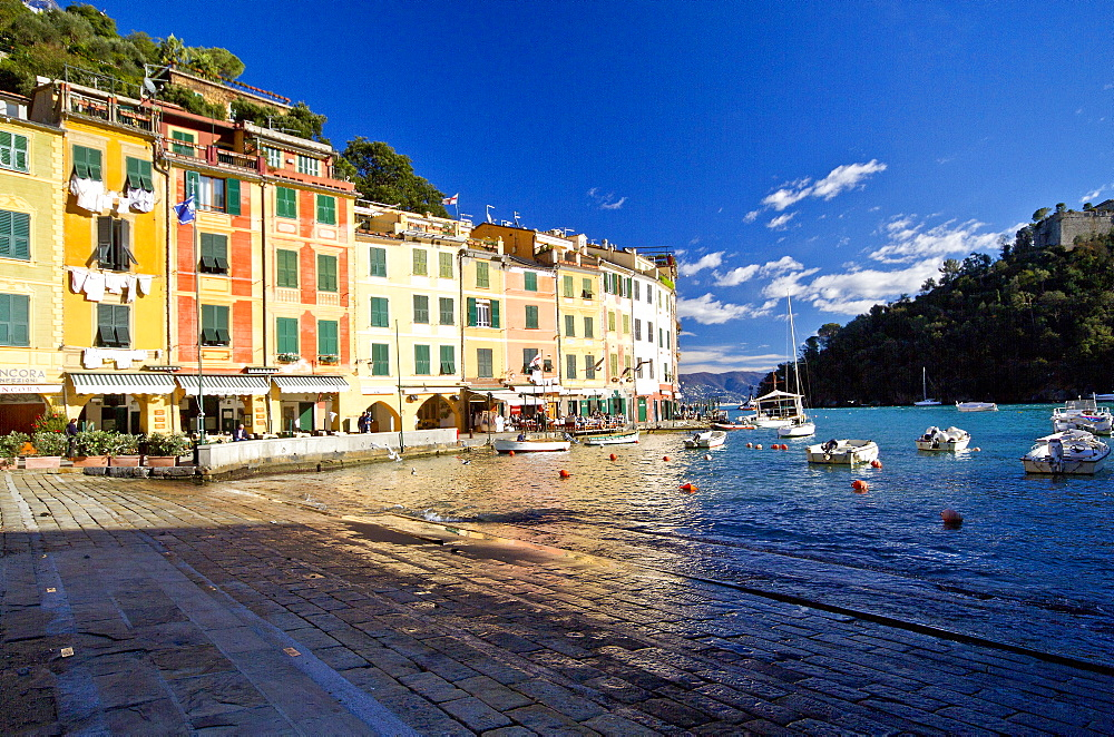 Portofino harbour, Liguria, Italy, Europe
