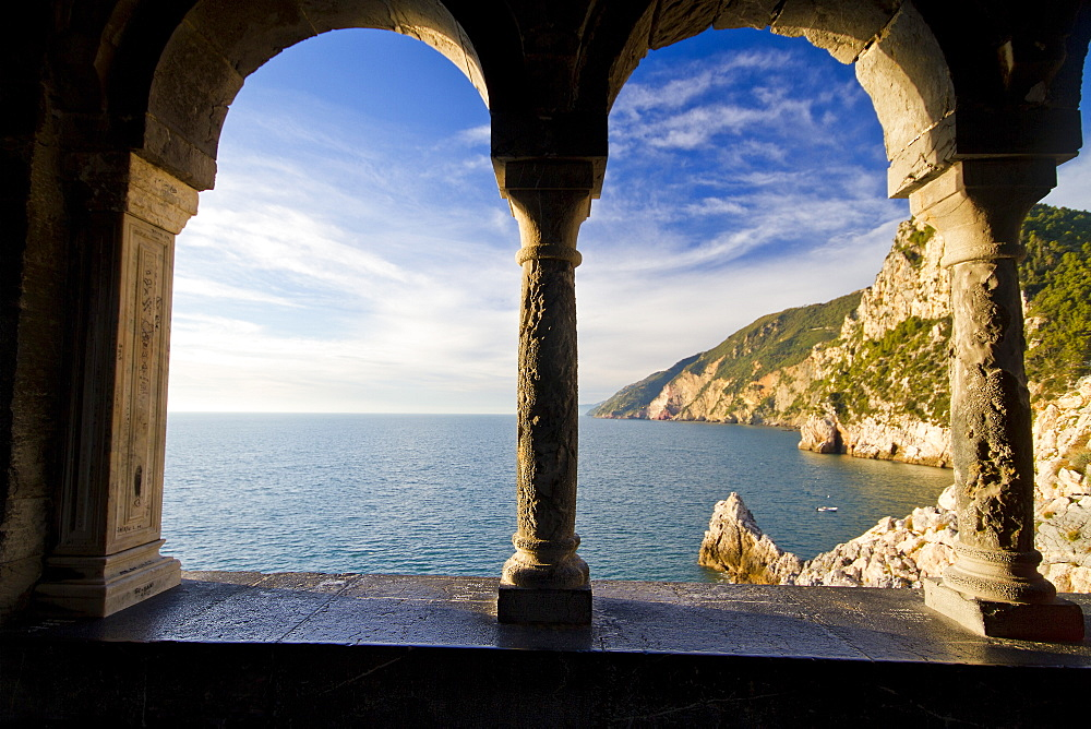 View of Cinque Terre cliffs from st Peters church Portovenere - 1061-35