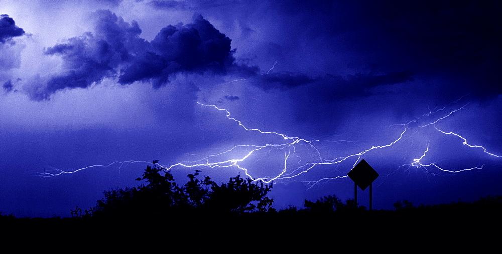 Caution Sign, Lightning; Southern Arizona - 1065-24