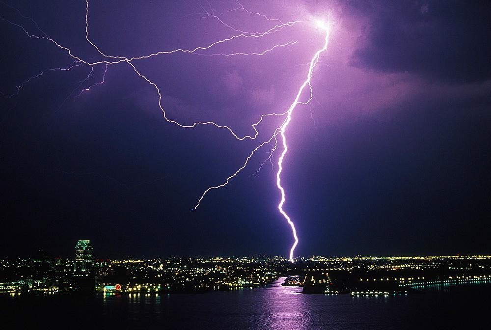 Hoboken, New Jersey, Lightning; Lightning Storm; Hoboken, New Jersey - 1065-40