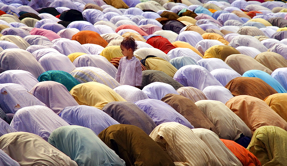 Eid prayer on the Red Road in Kolkata, India - 1068-9