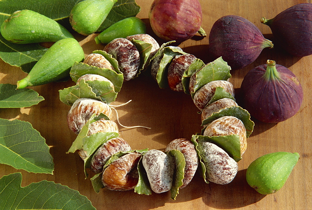 Dried figs at the market, Dubrovnik, Croatia, Europe - 11-852