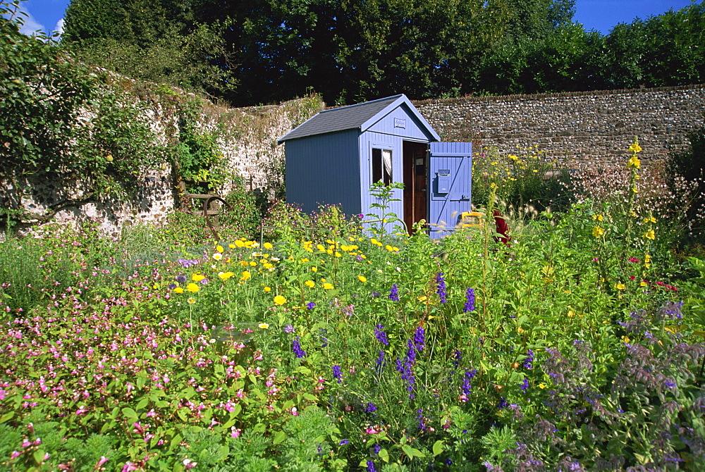 Herb garden, St. Valery sur Somme, Picardie, France, Europe - 11-874