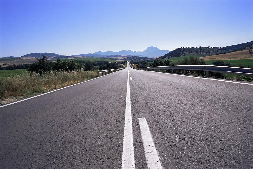 Road between Arcos de a Frontera and Grazalema, Andalucia, Spain, Europe - 11-939