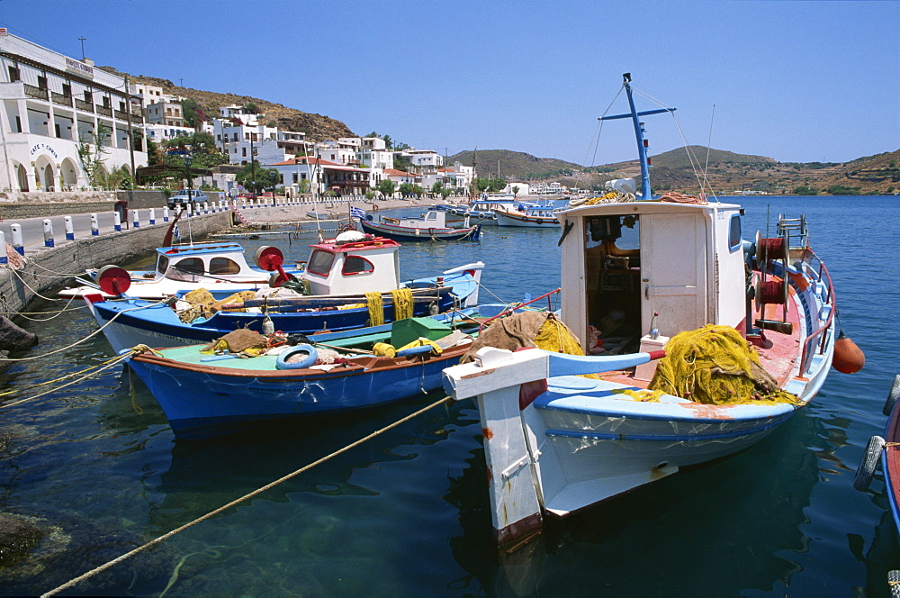 Harbour, Skala, Patmos, Dodecanese, Greek Islands, Greece, Europe - 110-10492