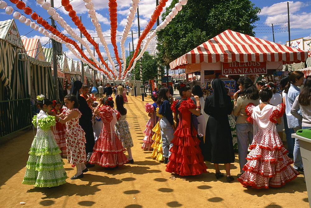 Paseo through grounds, April Fair, Seville, Andalucia, Spain, Europe - 110-11004