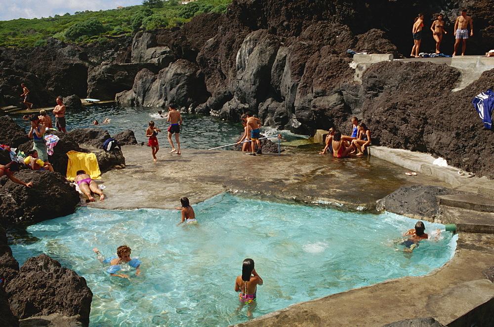 Varadouro pools, Faial, Azores, Portugal, Europe