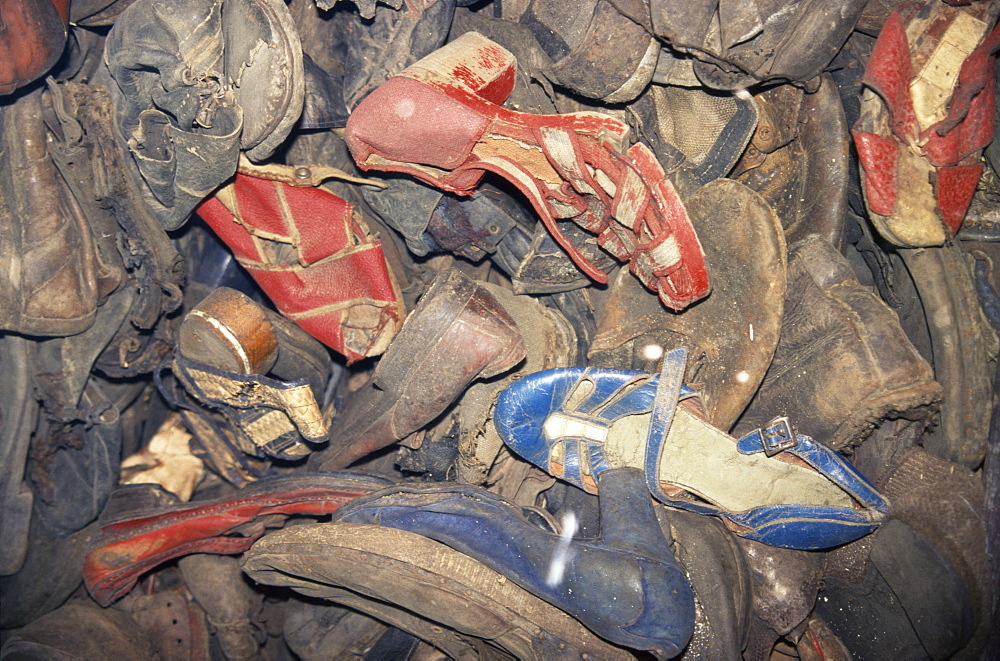 Prisoners' shoes, Auschwitz, Makopolska, Poland, Europe