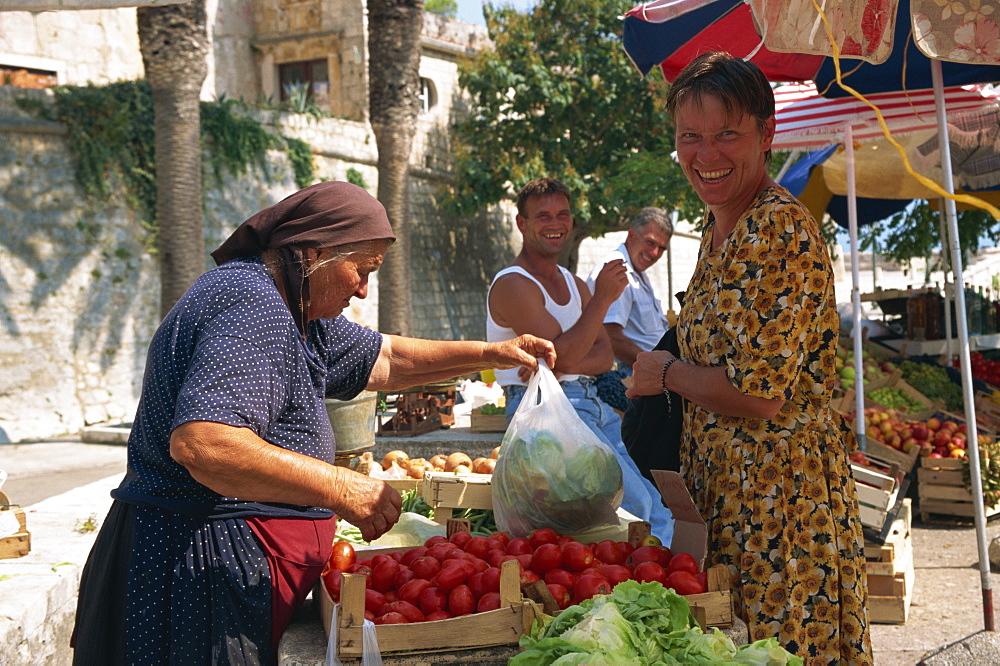 Market, Korcula, Korcula Island, Croatia, Europe