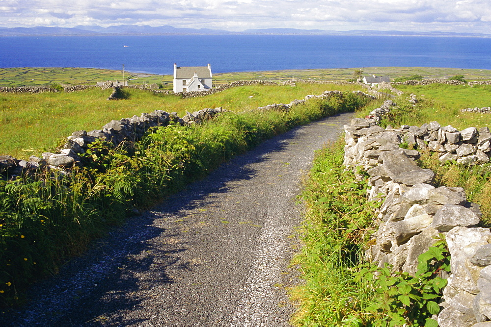 Country road, Inishmore, Aran Islands, County Galway, Connacht, Republic of Ireland (Eire), Europe
