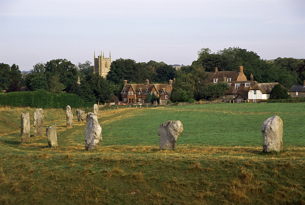 Stone circle at Avebury, UNESCO World Heritage Site, Wiltshire, England, United Kingdom, Europe