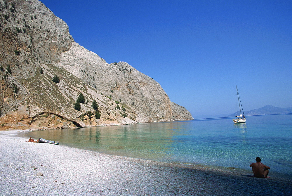 St. George's Bay, Symi, Dodecanese, Greek Islands, Greece, Europe - 110-17112