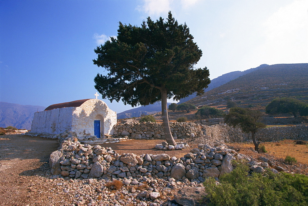 St. Stephanos chapel, Tilos, Dodecanese, Greek Islands, Greece, Europe - 110-17148